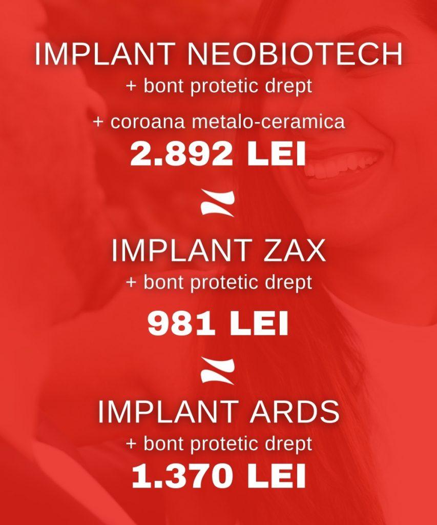 pret implant dentar 2021